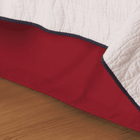 Solid Red Bedskirt - Twin