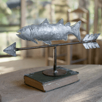 Table Top Galvanized Fish Weathervane - CLEARANCE