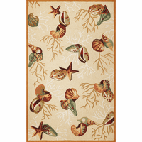 Sonesta Beige Coral Reef Rug Collection