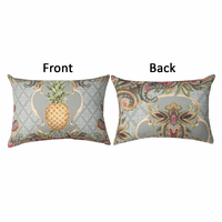 Sophisticated Pineapple Reversible Pillow