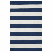 Sorrento Rugby Stripe Navy Rug Collection