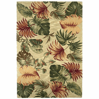 Sparta Beige Palm Leaves Rug Collection