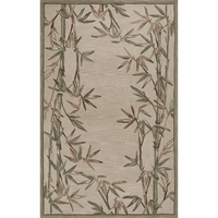 Sparta Ivory Bamboo Double Border Rug Collection