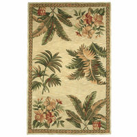 Sparta Ivory Tropical Oasis Rug Collection