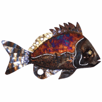 Spiked Copper Dripped Fish - Large