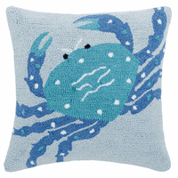 Spotted Crab Hooked Pillow