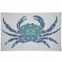Spotted Crab Hooked Rug