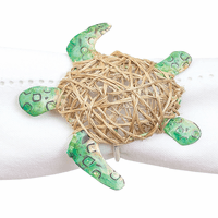 Spotted Sea Turtle Napkin Rings - Set of 6