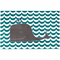Spouting Whale Rug - 5 x 8