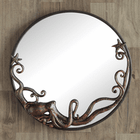 Sprawling Octopus Round Mirror
