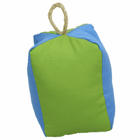Square Blue and Green Buoy Indoor/Outdoor Pillow