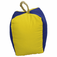 Square Blue and Yellow Buoy Indoor/Outdoor Pillow