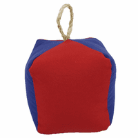 Square Red and Blue Buoy Indoor/Outdoor Pillow