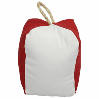 Square Red and White Buoy Indoor/Outdoor Pillow