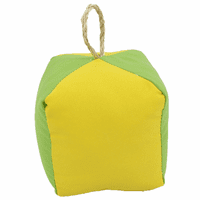 Square Yellow and Green Buoy Indoor/Outdoor Pillow