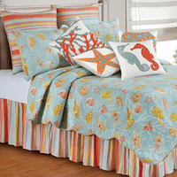 St. Martin Blue Quilt Bedding Collection