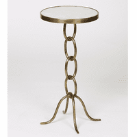 Stacked Link Accent Table - Antique Brass