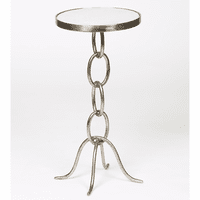 Stacked Link Accent Table - Pewter