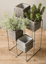 Stacked Square Planter Tower