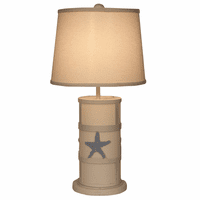 Starfish and Parchment Accent Lamp with Nightlight