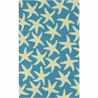 Starfish Blue Rug Collection
