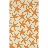 Starfish Burnt Orange Rug Collection