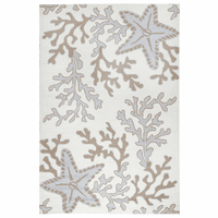 Starfish & Coral Brown Indoor/Outdoor Rug Collection