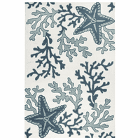 Starfish & Coral Teal Indoor/Outdoor Rug Collection