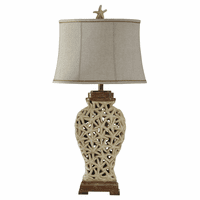 Starfish Cutwork Table Lamp