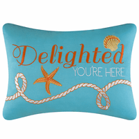 Starfish Delight Embroidered Pillow