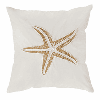 Starfish Embellished Accent Pillow