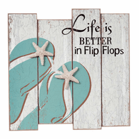 Starfish Flip Flops Wall Sign