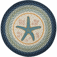 Starfish Icon Round Rug