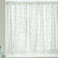 Starfish Lace Window Tier with Trim - 45 x 36 - OVERSTOCK