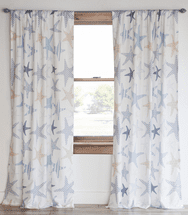 Starfish Microfiber Drapes