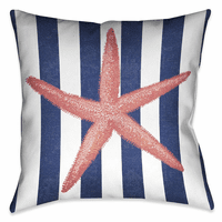 Starfish Sea 18 x 18 Outdoor Pillow