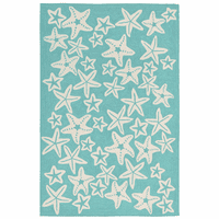 Starfish Sea Blue Indoor/Outdoor Rug Collection