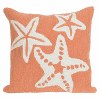 Starfish Sea Coral Indoor/Outdoor Pillow