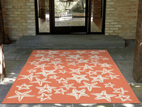 Starfish Sea Orange Indoor/Outdoor Rug Collection
