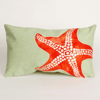 Starfish Seafoam Pillow - 12 x 20