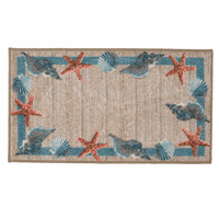 Starfish & Shell Accent Rug