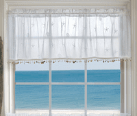 Starfish Shells Lace Valance with Trim