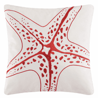 Starfish Tango Embroidered Pillow
