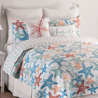 Starfish Tango Quilt Set - King