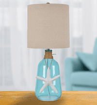 Starfish & Twine Glass Table Lamp