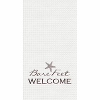 Starfish Welcome Waffle Weave Towels - Set of 6