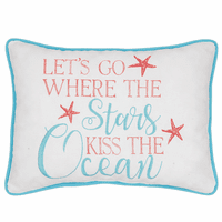 Stars & Ocean Embroidered Pillow