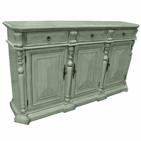 Sterling 3 Drawer 3 Door British Gray Sideboard