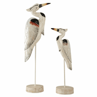 Stoic Herons Statues - Set of 2
