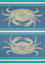 Stone Crab Blue Rug Collection